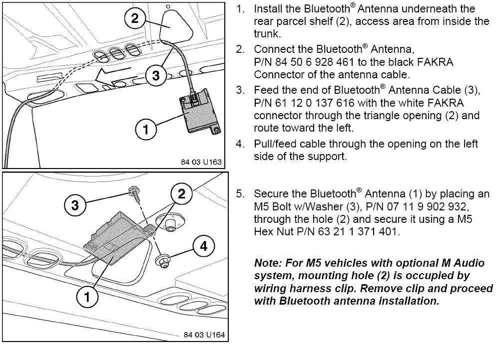 Bmw E39 Bluetooth Installation Instructions Bimmernav